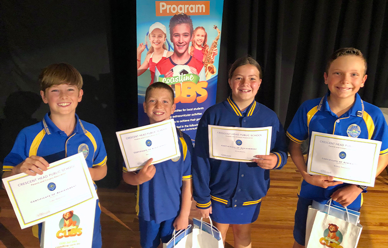 Crescent Head Public School students awarded scholarships to further their sporting pursuits
